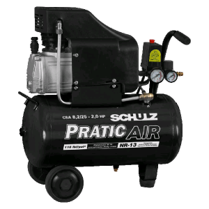 Compressor de ar CSA 8,2/25 – Pratic Air – 110/220v – Schulz